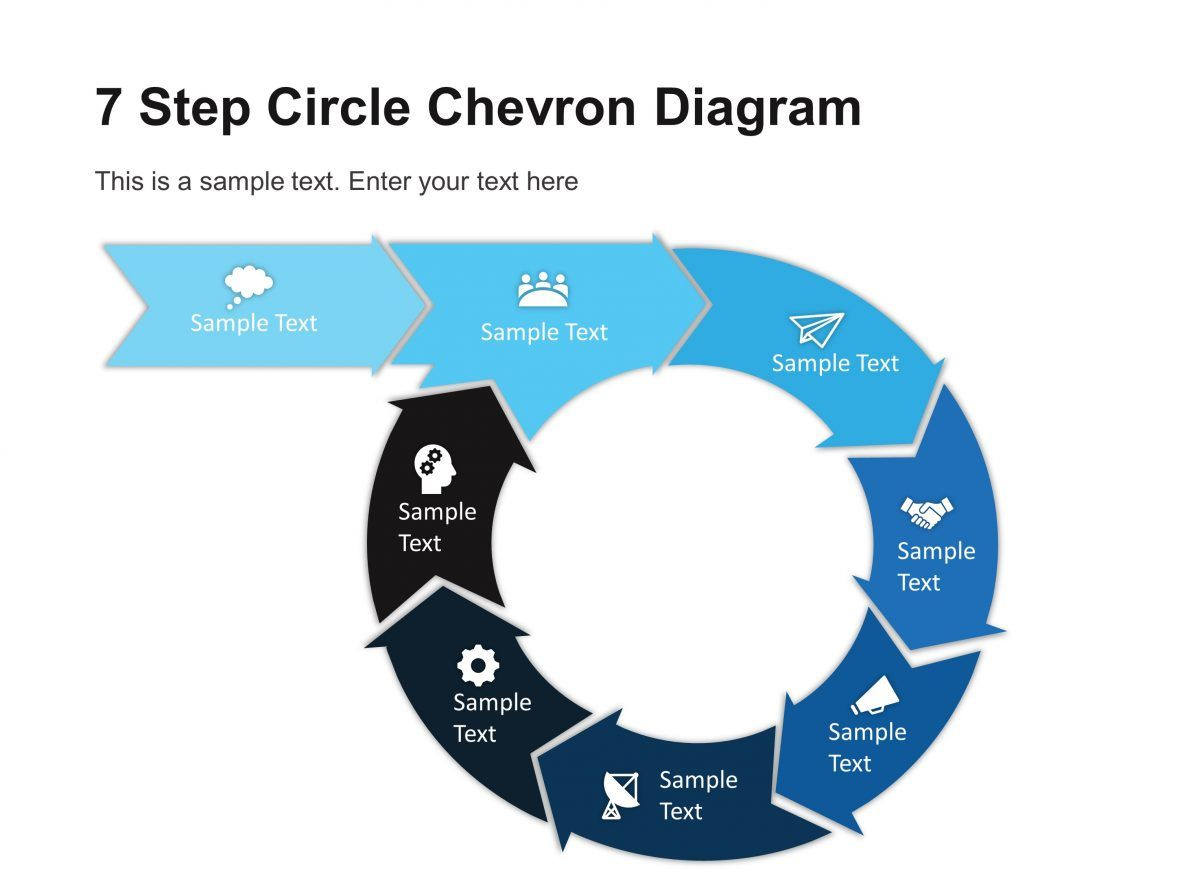 7 step circular chevron diagram template chevron inside