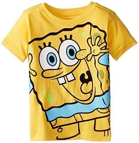 Boys Spongebob Long Sleeve Shirts sizes 2T 4T Tops clothing FREE SHIPPING 3T