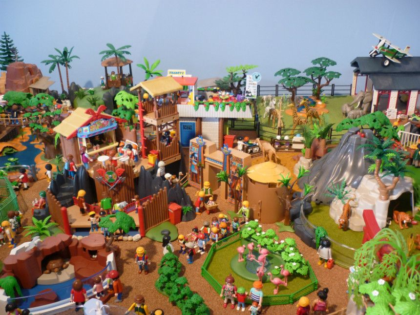 Playmobil tiere am seeufer