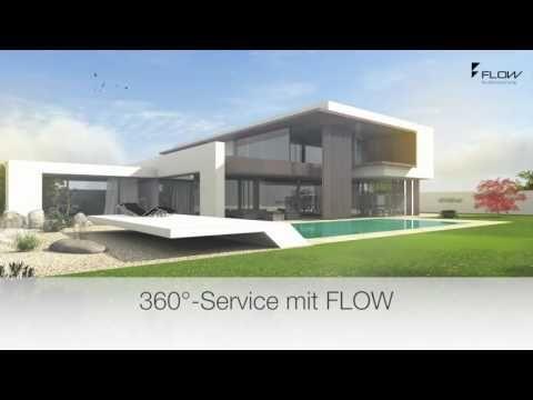 Modernes flachdachhaus bauen flachdachh user mit flow for Modernes haus dachterrasse