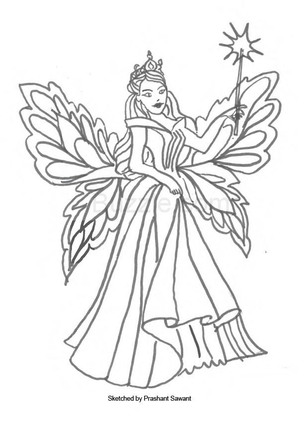 Fairy And The Magical Stick Coloring Pages Voteforverde Com