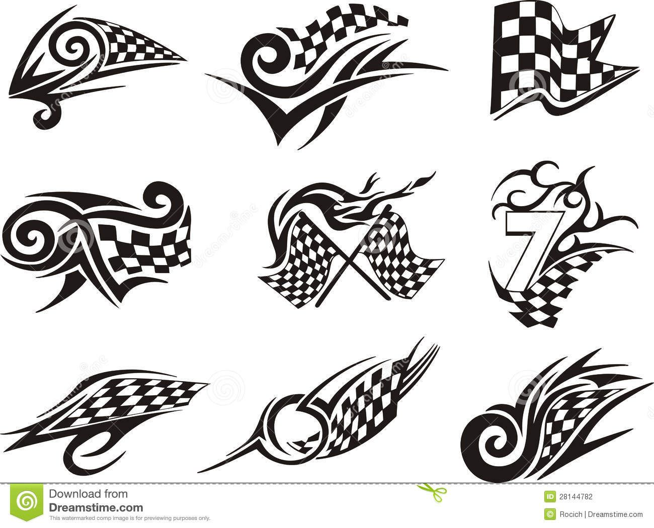Tattoo Racing Designs
