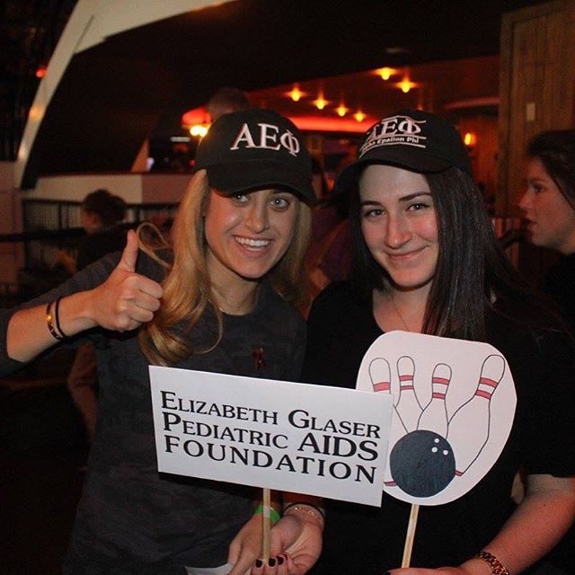 Our Chapter At Nyu Held A Bowling Philanthropy To Raise Money For Egpaf Phi Lanthropy Ideas Alpha Epsilon Phi How To Raise Money Jewelry