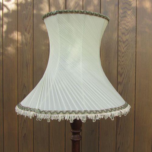 Cream Pleated Classic Vintage Standard Lampshade Vintage Lampshades Lampshades Vintage