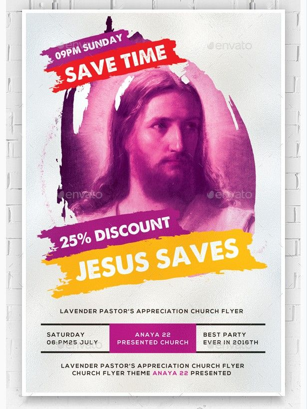 Jesus Saves Flyer Template  Party Flyer Templates For Clubs