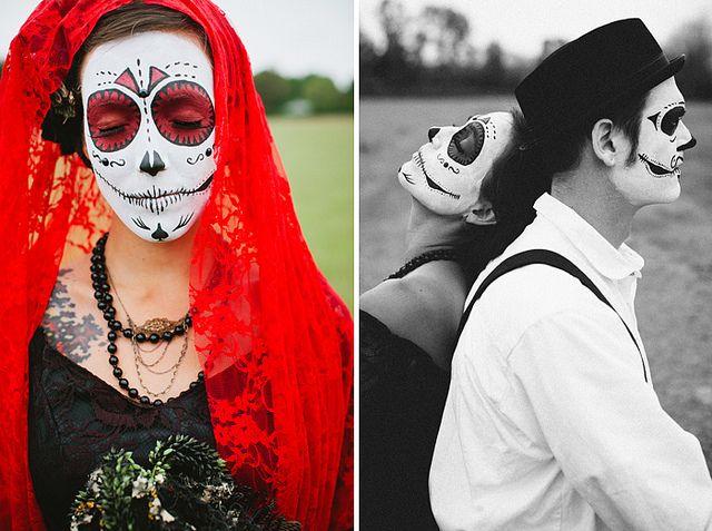 beautiful Día de los Muertos Wedding