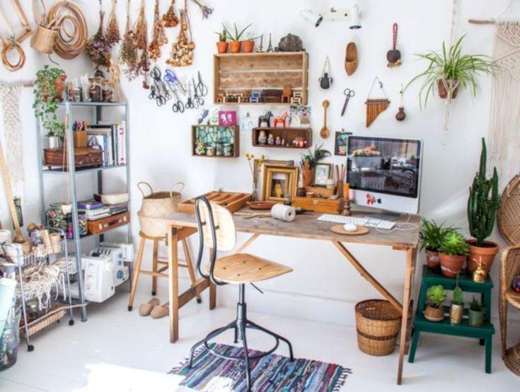 Creative art studio organization ideas for workspace desks