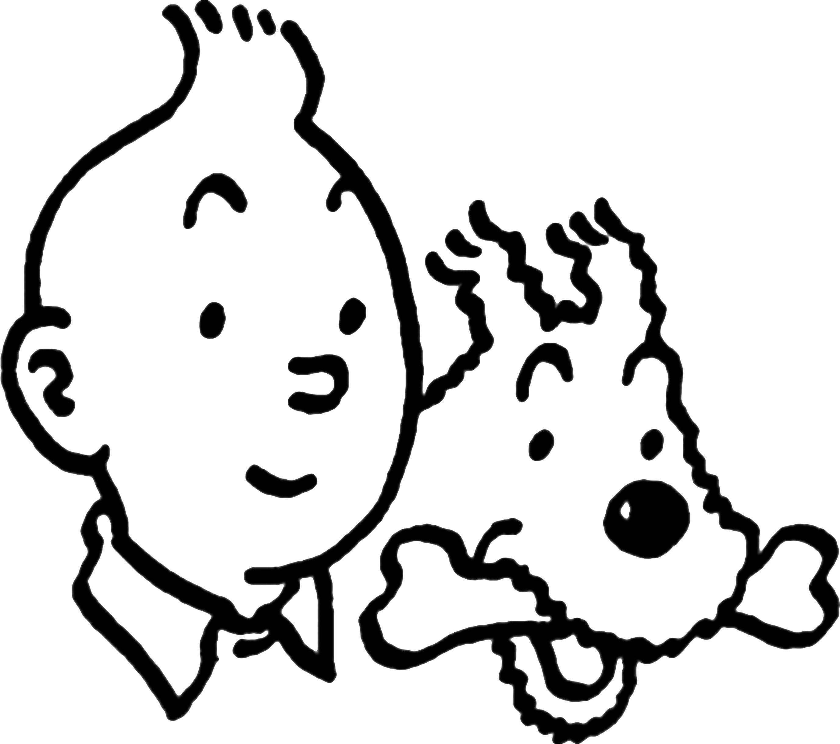 Coloriage Bateau La Licorne Tintin.Coloriage Tintin A Imprimer Pour Les Enfants Cp25725 Forme