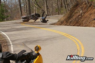 Ouch Scene From Tail Of The Dragon By Killboy Com Riding Motorcycle Motorcycle Culture Epic Fail Pictures