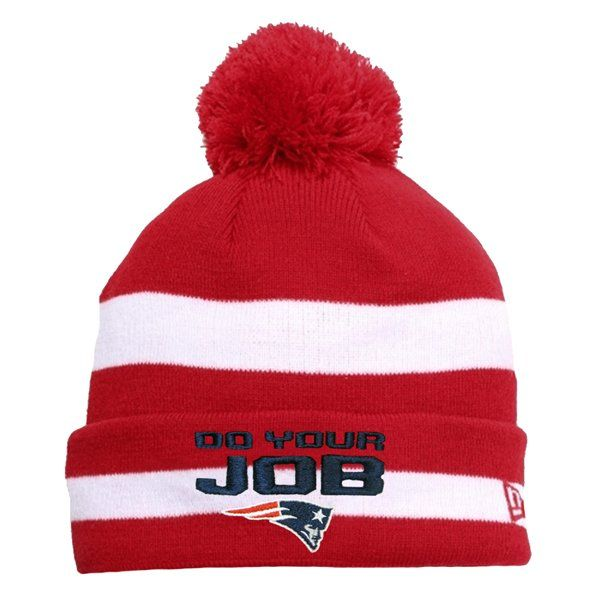 854e54ad New Era DoYourJob Knit Hat-Red/White | Patriots ProShop | New ...