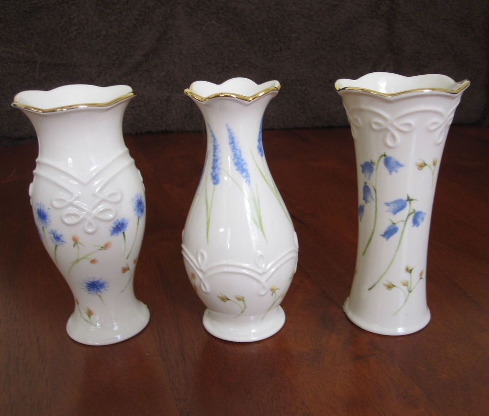"""Lenox Classic Collection Floral Bud Set of 3 Vases 5"""" NEW without"""