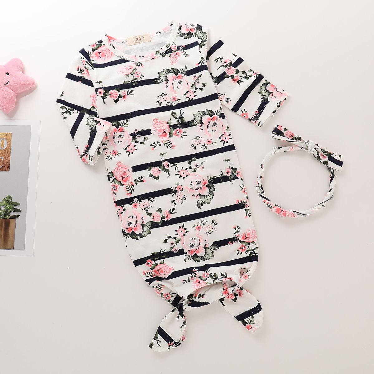 35acd046056a ... Set Wearable Blanket Pajamas Sleepwear with Headband Soft and without  snaps