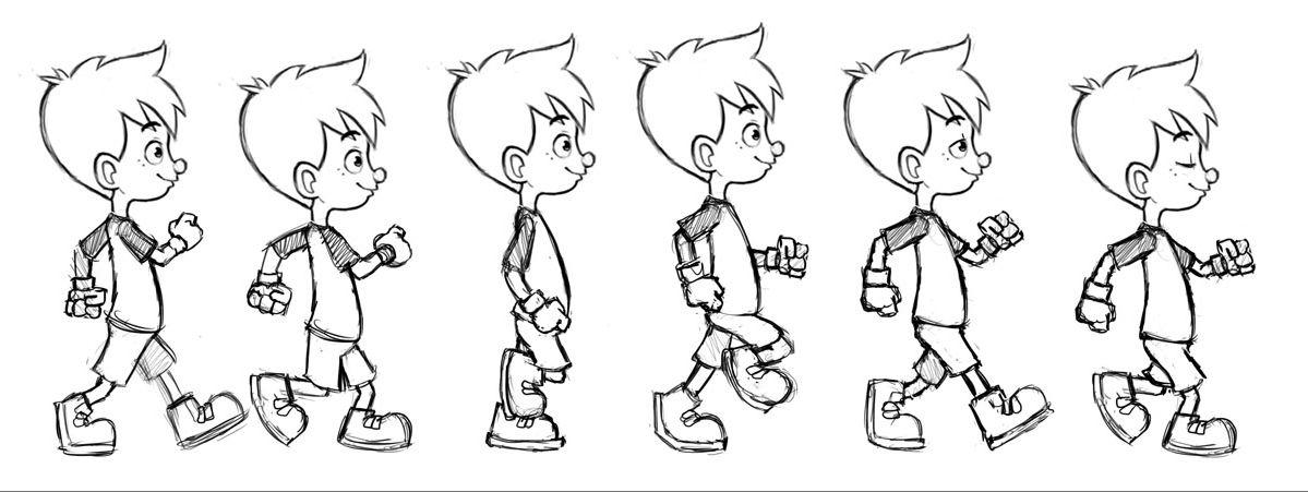 Cycle de la marche tutos vid os et mod les animation en 2019 pinterest animation dessin - Modele dessin personnage ...