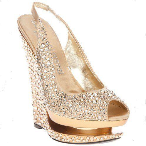 Charmant Suede Womens 16cm Open Toe Platforms Wedges Shoes/Wedding Shoes