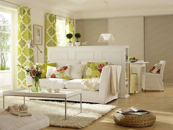 Curtain to separate room how to separate living and - Dining room living room separation ...
