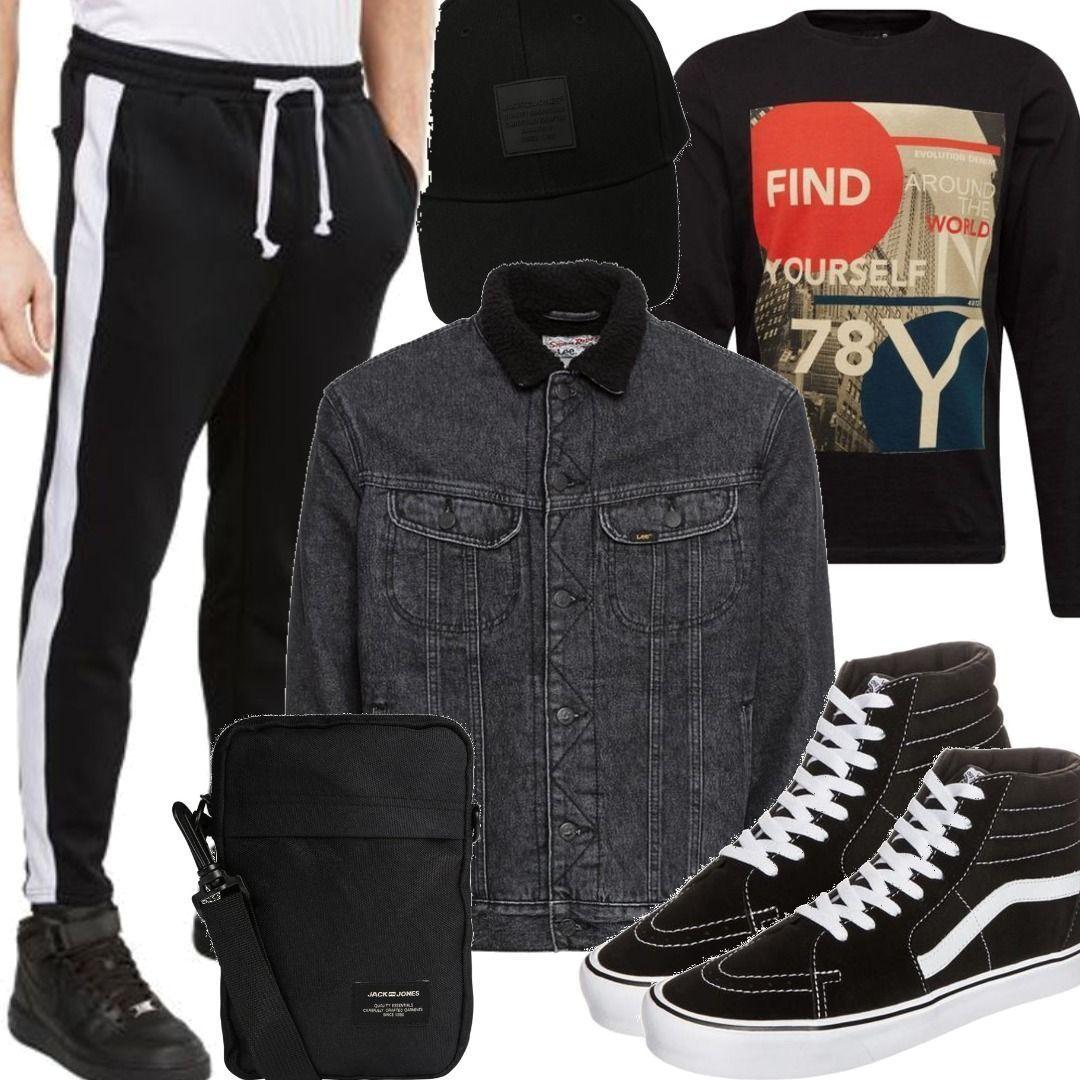 Urban Classics Jeansjacke Outfit für Herren zum Nachshoppen