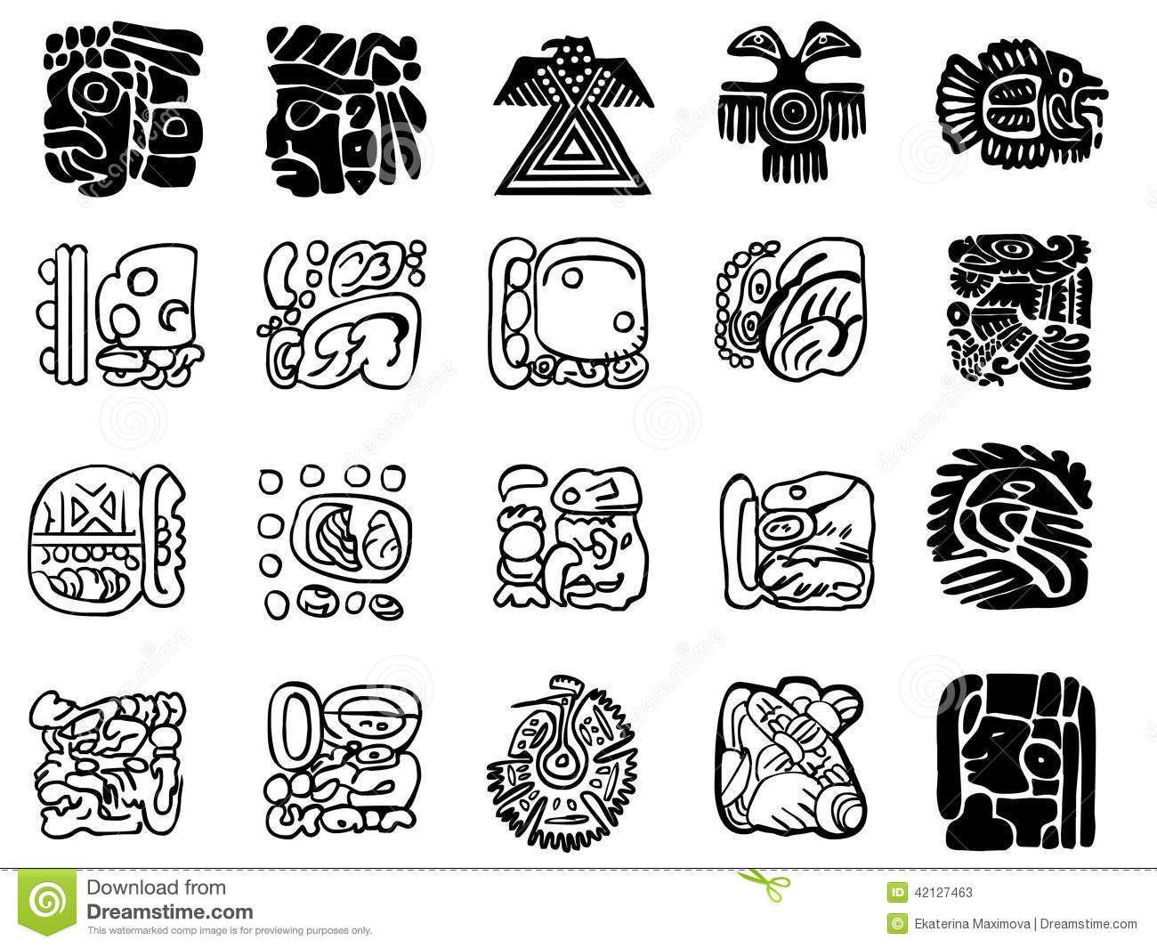 Maya patterns. Photo about mesoamerican, jungle