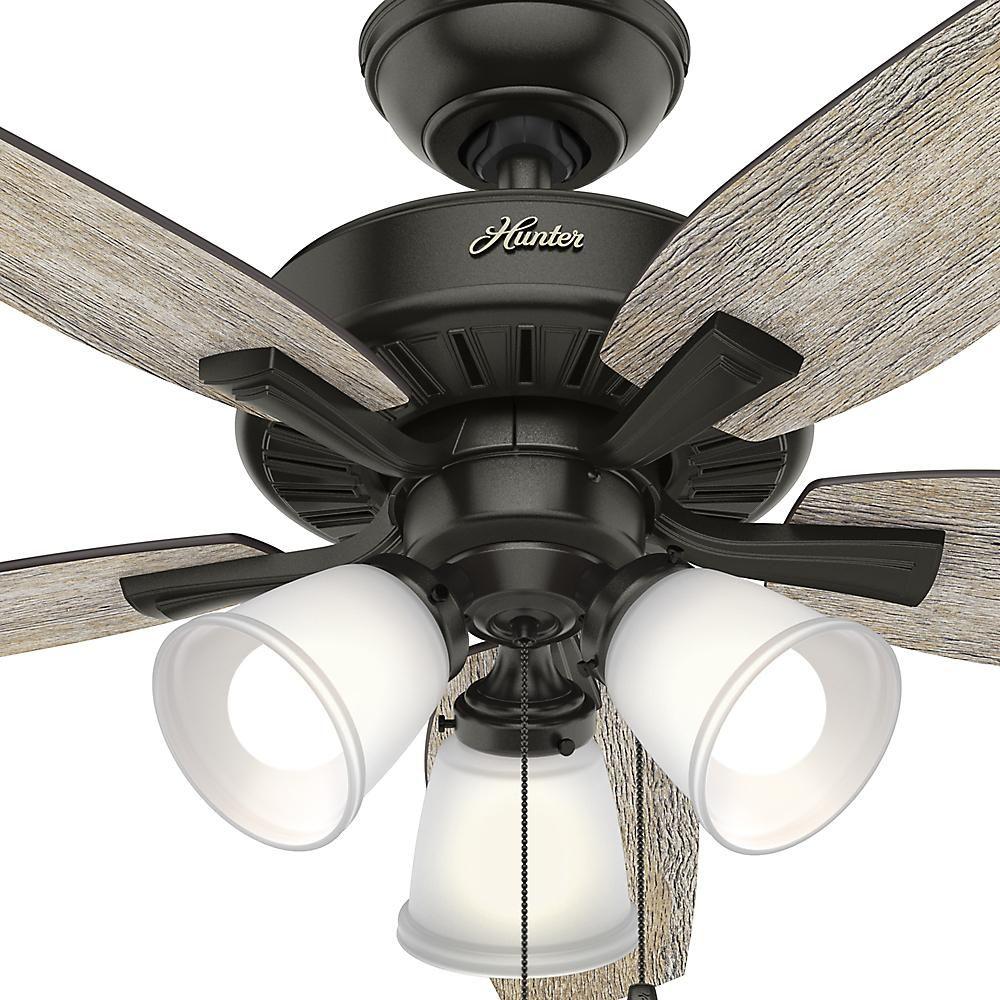 Hunter Oakfor 48 in. LED Indoor Noble Bronze Ceiling Fan