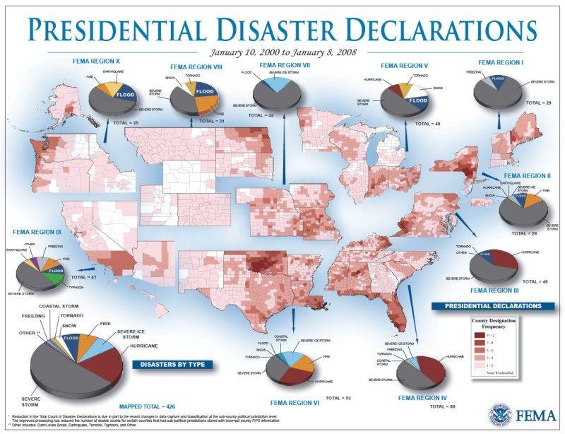 FEMA Disaster Area Map Maps Pinterest Emergency Preparedness - Fema region map