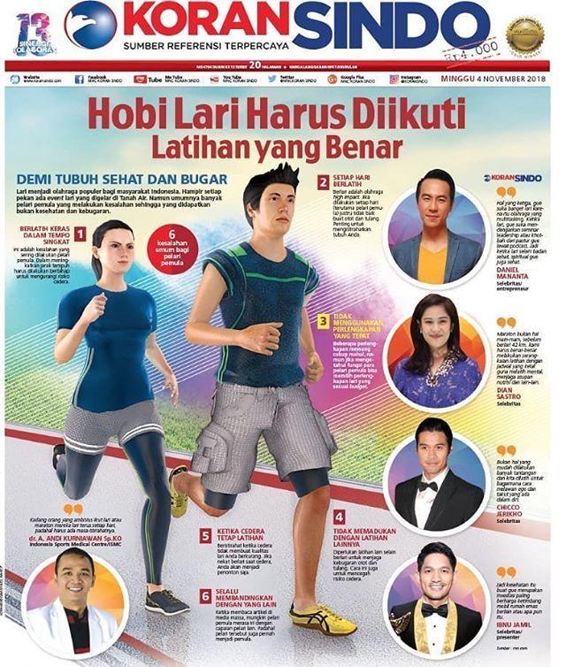 Berlari kini boleh dibilang menjadi olahraga yang paling