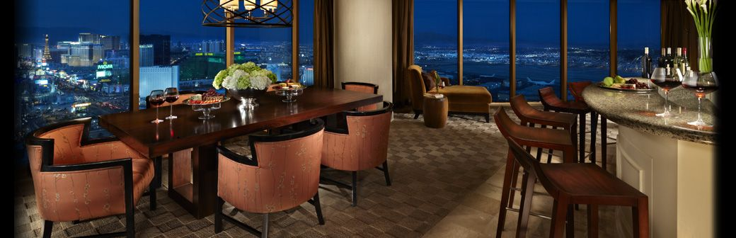 my reception space! vista suite - mandalay bay - best hotel rooms