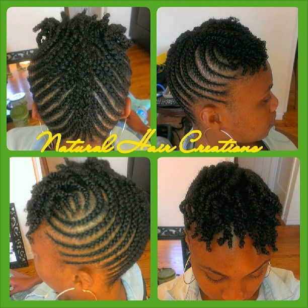 #cornrow updo short hair #twists
