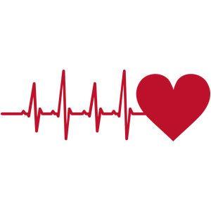 Silhouette Design Store: heart heartbeat