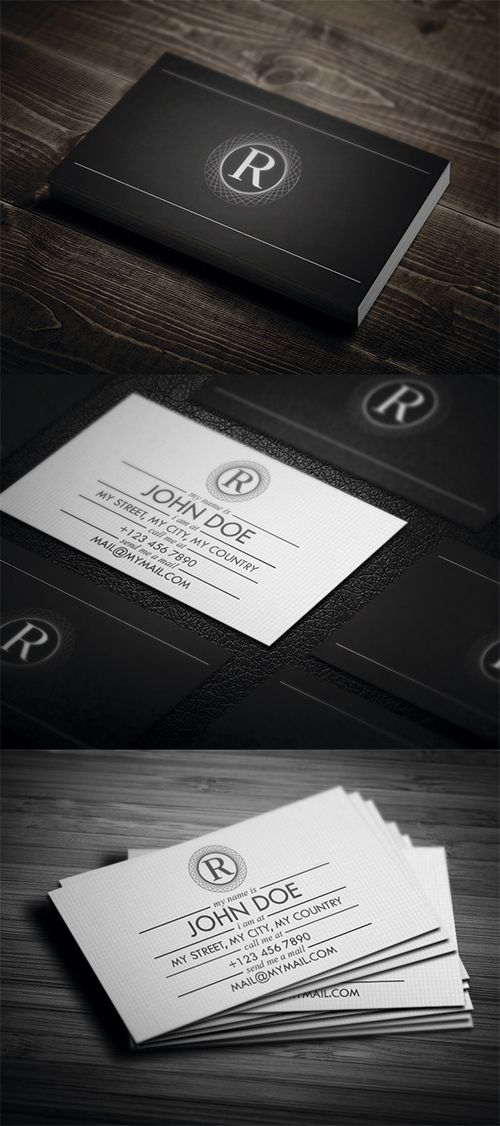 Creative Corporate Business Cards Design | Graphics Designs ...