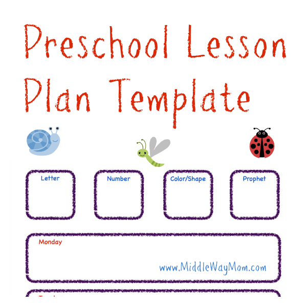 Circles Preschool Lesson Plan  Prek Planning Template