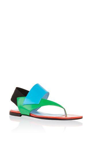 super popular 89e4e 2c457 Studio pollini flat leather veronica sandal by POLLINI for ...