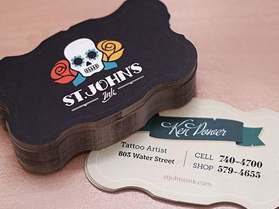 St johns ink business cards business cards business and logos st johns ink tattoo artist business cards reheart Choice Image