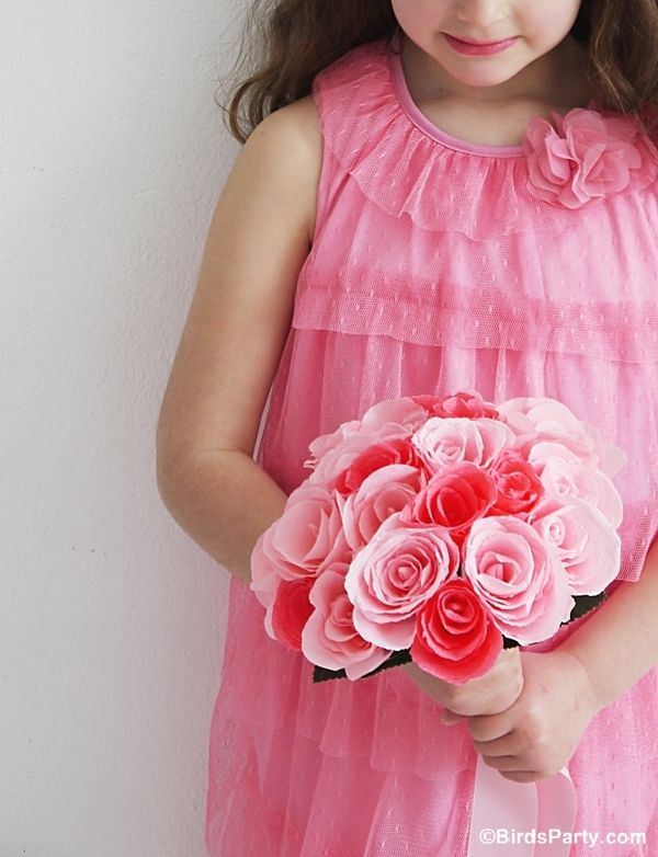 how to make crepe paper flowers for wedding bouquet