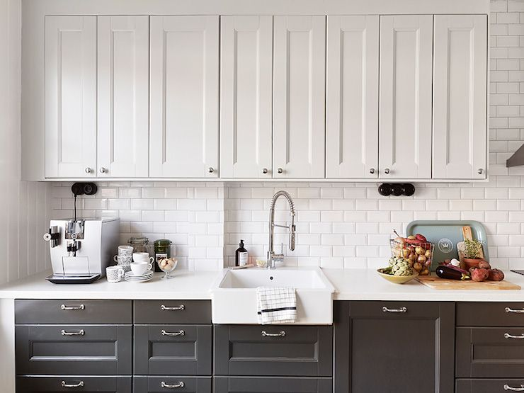 Kitchen Cabinets Light On Top And Dark On Bottom Pictures 10 wonderful white kitchens | white counters, butcher blocks and