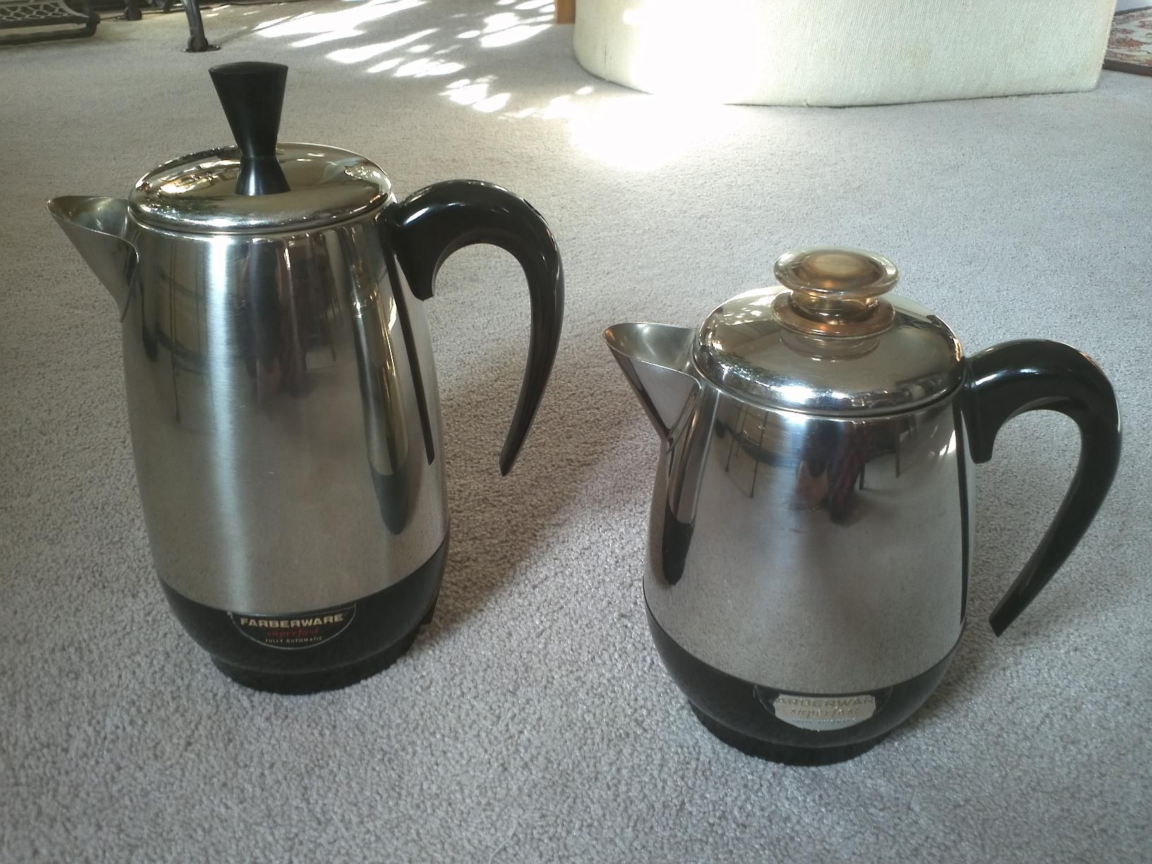 Vintage 1950s Super Fast Coffee Percolators From Farberware Of