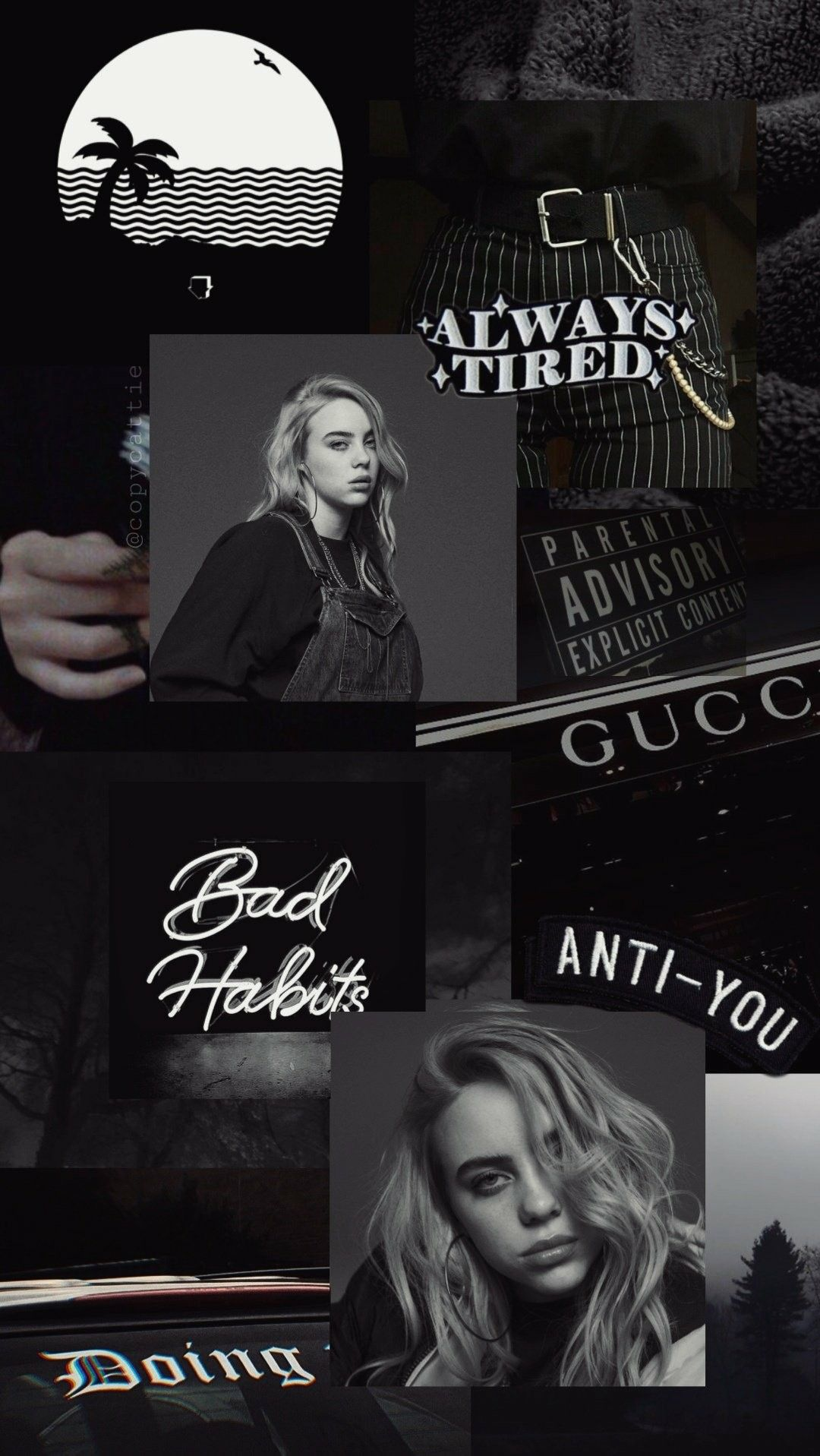 Pin By Winona Forever On Wallpapers Billie Eilish Billie Black Aesthetic