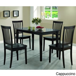 Oakdale 5Piece Cappuccino Cherry Dining Set  Overstock Inspiration Coaster Dining Room Furniture Inspiration Design