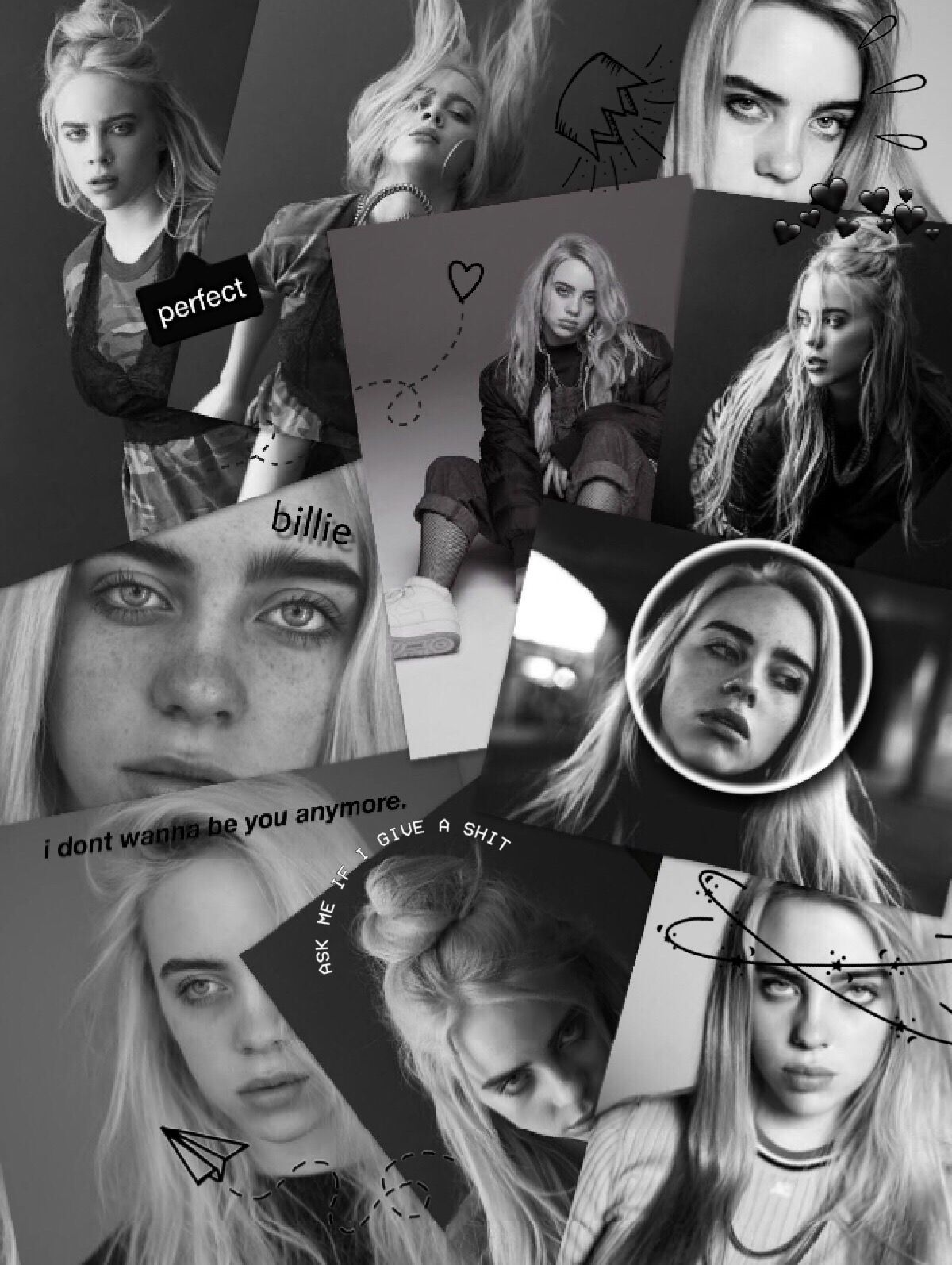Freetoeditbillie Eilish Wallpaper Remixit With Images