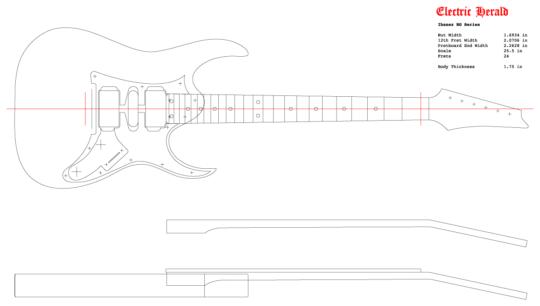 Guitar Dxf Ibanez Rg 550 Electric Herald Guitar Ibanez Adobe Illustrator Vector