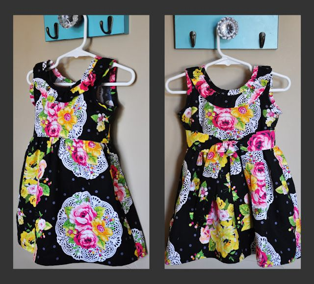 sewing little girls dresses is so easy... I plan to make a bunch for my little one for the summer... here is a simple free patern!