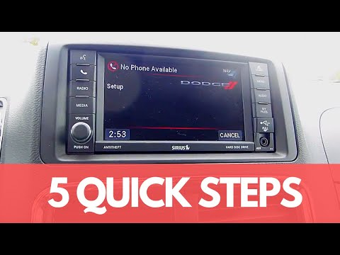How To Connect Your Phone Via Bluetooth To The Dodge Grand Caravan S Uconnect System Youtube In 2020 Grand Caravan Caravan 2017 Dodge Grand Caravan
