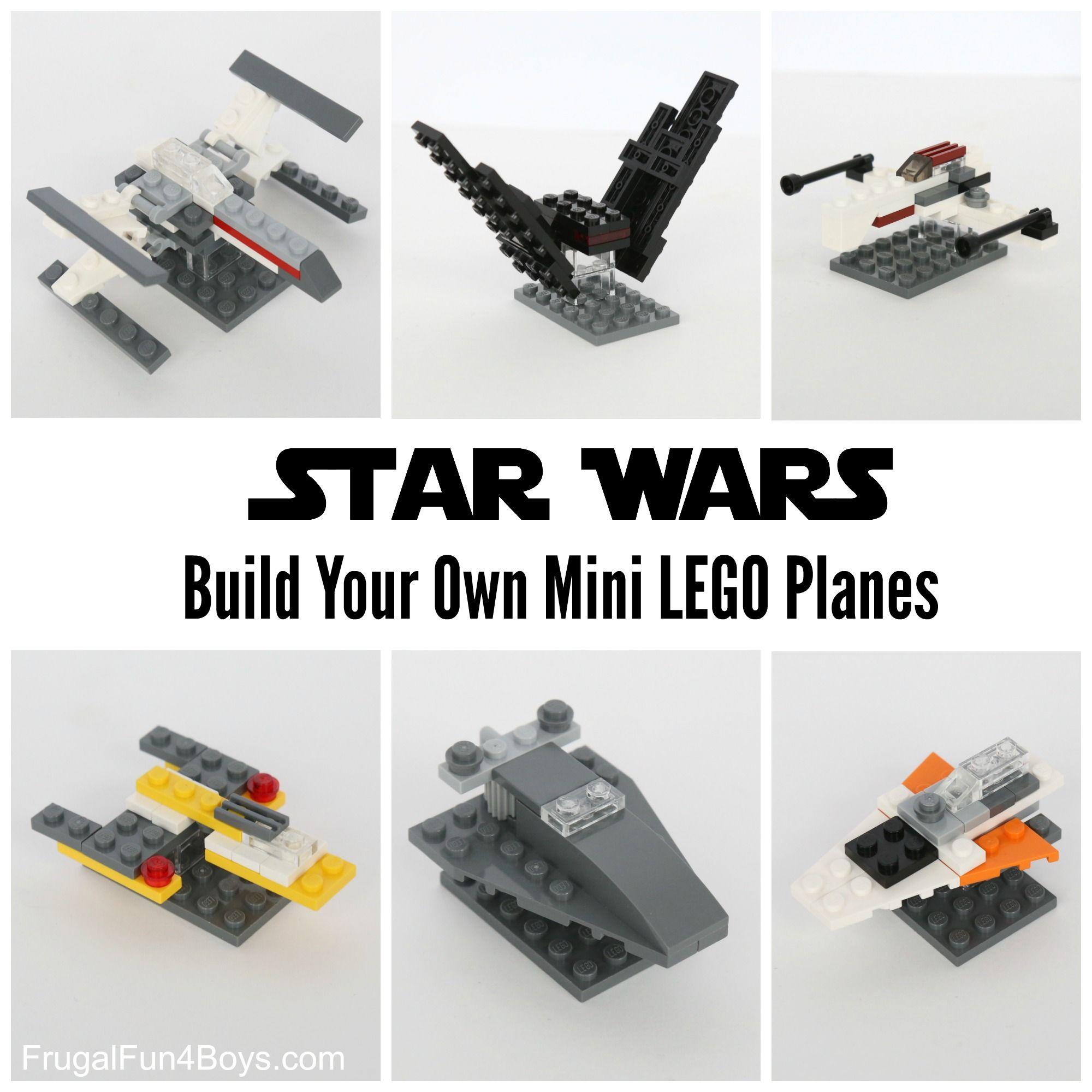 Build Your Own LEGO Mini Star Wars Ships | LEGO | Lego star