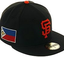 781feef9 New Era 5950 San Francisco Giants Filipino Flag Hat - Black, Orange ...