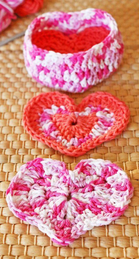 Free Crochet Pattern Heart Shaped Box Of Face Scrubbies Crochet