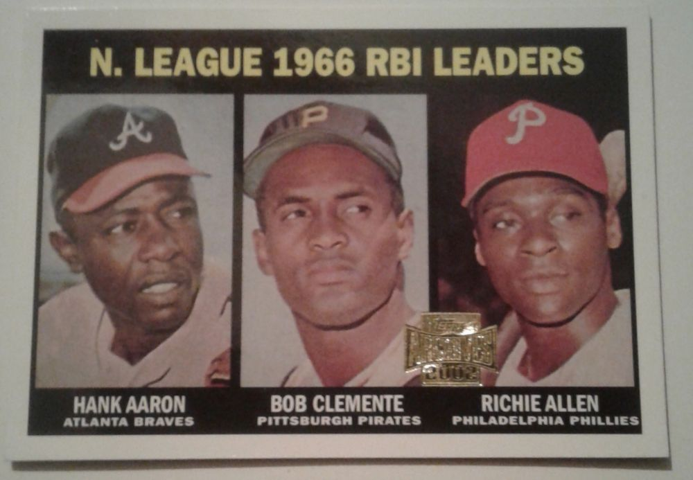 2002 Topps Archives 1966 Rbi Leaders Card 242 193 Of 200