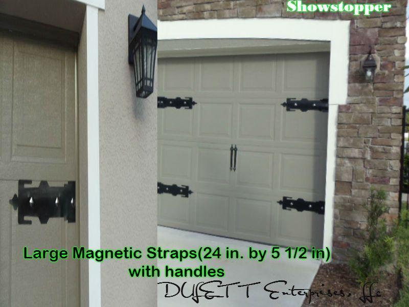 Magnetic Garage Door Decorative Hardware Kit Carriage House Faux Large Straps Garage Door Decor Garage Doors Strap Hinges
