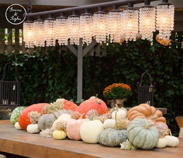 Pumpkin decorations - as seen in Sag Harbour via Grins  Sighs For