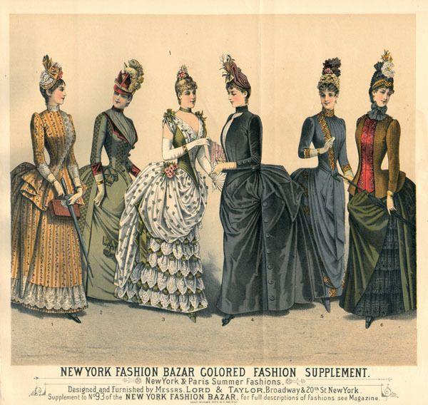 La mode de 1880 1890 exquisite history of fashion for Exquisit mode