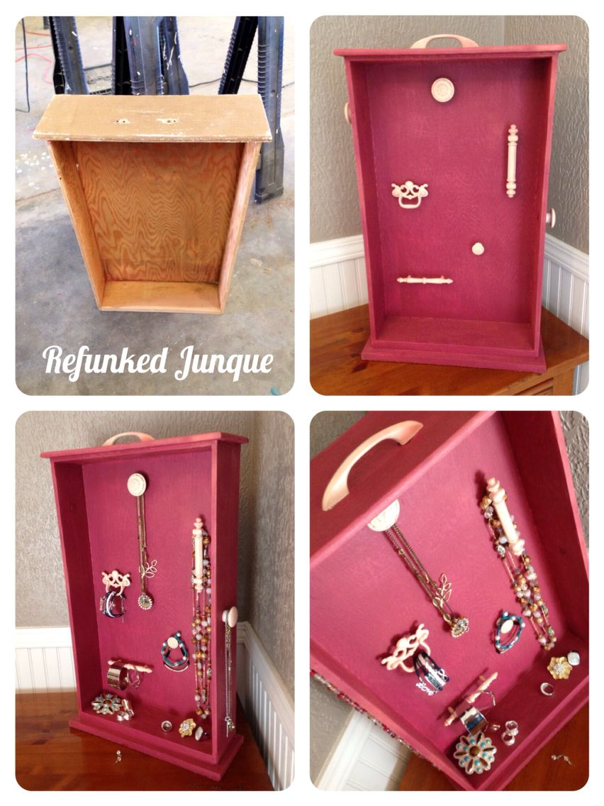 Jewelry organizer from an old drawer