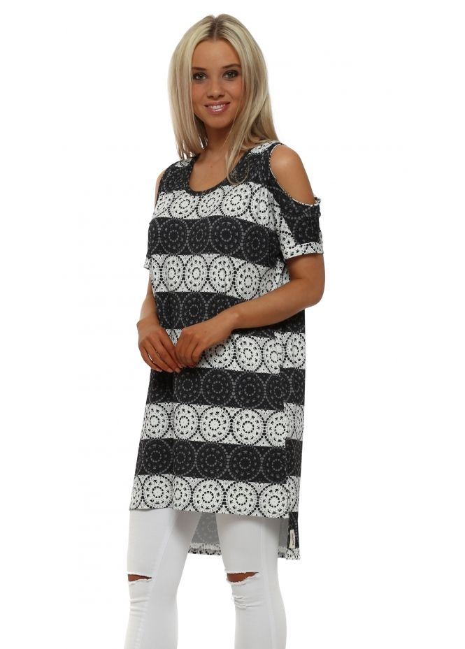 d1c79ba5d2c A POSTCARD FROM BRIGHTON Lily Love Lace Vanilla Shoulder Tunic Top ...