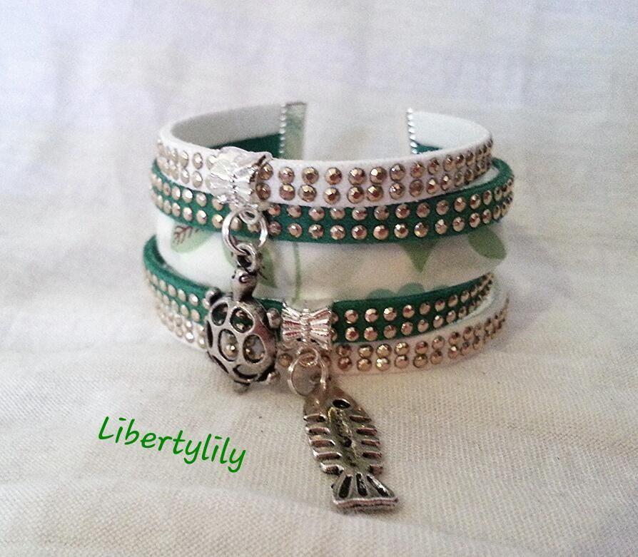 Bracelet tissu liberty a faire soi meme